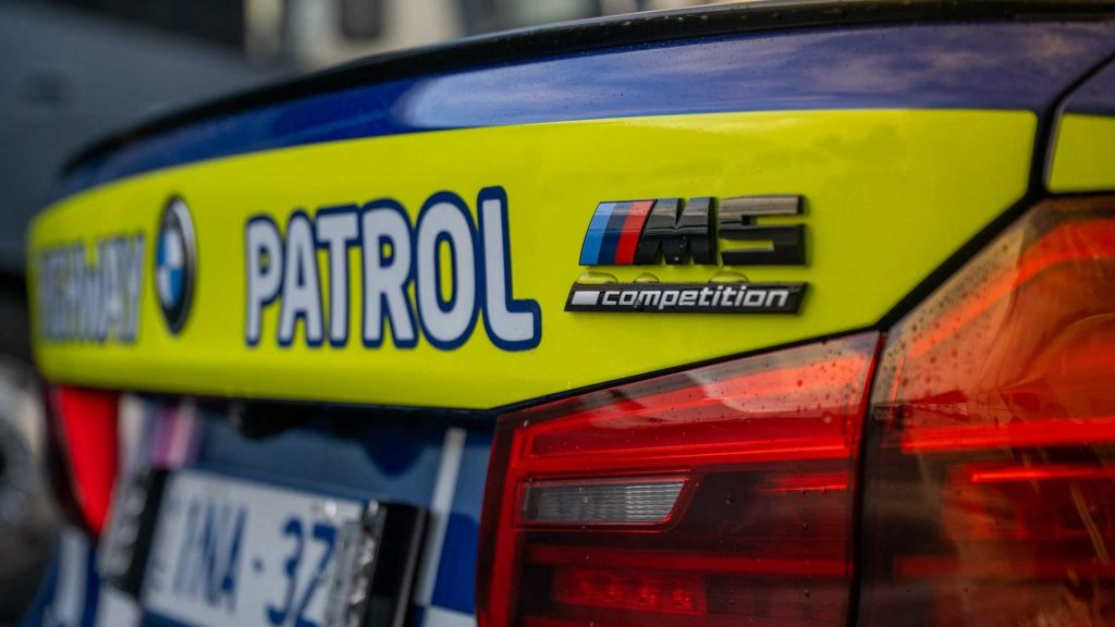BMW M5 Competition Australian police